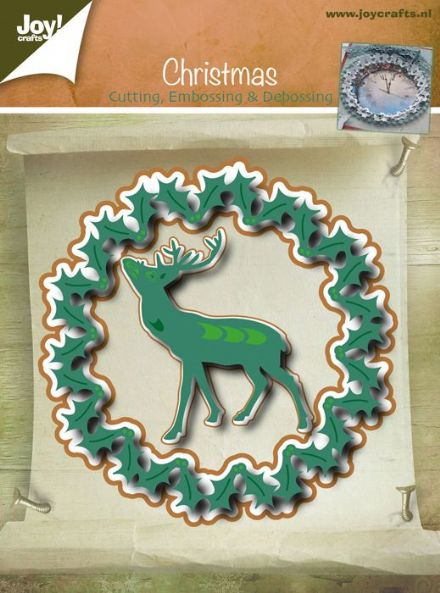 6002/2049 ~ CHRISTMAS BORDER / DEER~ JOY CRAFTS Cut+Emboss dies